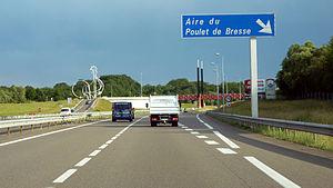 A39 autoroute - A39 autoroute, Service Area: Le Poulet de Bresse
