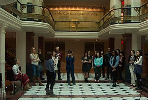 Attendees touring the American Art Museum. View more pictures from the event.
