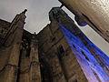 125 Catedral de Barcelona, façana del carrer dels Comtes, a la dreta el Palau del Lloctinent.JPG