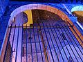 135 Catedral, portal de Sant Iu, des del porxo del Saló del Tinell, durant el festival Llum BCN.JPG