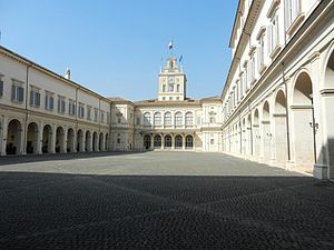 Quirinal Palace - The Courtyard of Honour
