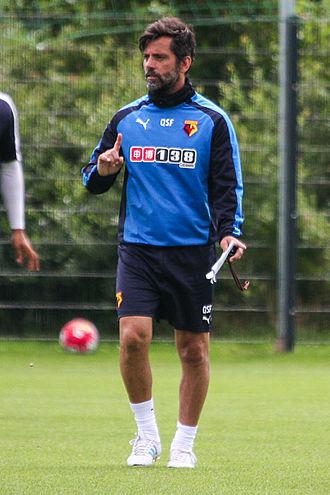 Quique Sánchez Flores - Flores as coach of Watford in 2015