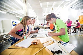 Women in STEM fields - The CMS Girls Engineering Camp at Texas A&M University–Commerce in June 2015