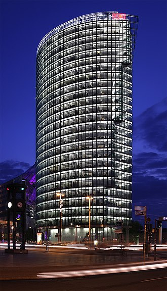 Deutsche Bahn - The corporate headquarters of Deutsche Bahn at Potsdamer Platz in Berlin