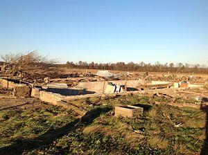 Tornado outbreak of November 17, 2013 - EF4 damage to a farm near New Minden.