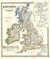 1855 Spruneri Map of the British Isles, Britannia ^ Hibernia, in Ancient Times - Geographicus - Britania-spruneri-1855.jpg