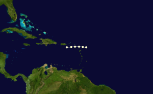 1859 Atlantic hurricane season - Image: 1859 Atlantic hurricane 3 track