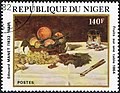 1864 Manet painting on 1982 stamp of Niger.JPG