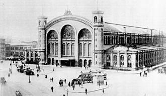 Berlin Nordbahnhof - Stettiner Bahnhof about 1875