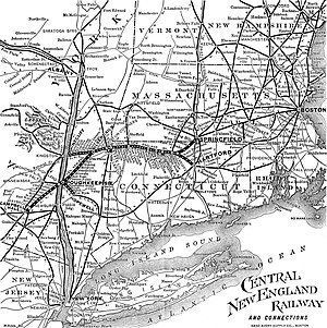 Central New England Railway - Image: 1901 CNE map