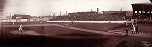 1903 in baseball - 1903 Boston vs Chicago at Huntington Avenue Grounds