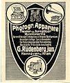1905 circa Werbung G. Rüdenberg jun., Hannover und Wien, Photographische Apparate, Theater- und Ferngläser, Musikwerke.JPG
