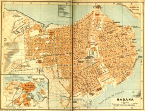 Timeline of Havana - Map of Havana, 1909