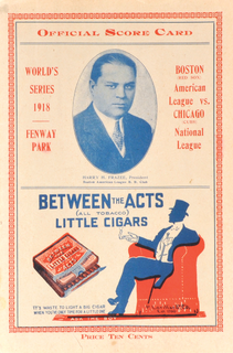 1918 World Series 1918 Major League Baseball championship series