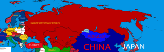 1930 in the Soviet Union - A map showing the territory of the Union of Soviet Socialist Republics