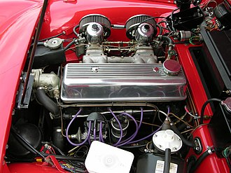 Standard wet liner inline-four engine - 1991 cc Triumph version fitted in a 1961 TR3A