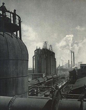Fushun - Fushun Oil Factory in 1963