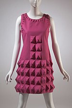 Pierre Cardin dress, heat-moulded Dynel, 1968
