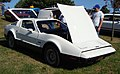 1974 Bricklin 4 speed white at Potomac Ramblers meeting 01.jpg