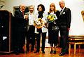 1995, Verleihung Stadtkulturpreis Hannover, Winter-Gärten Skulpturen in der Güntherstraße, Erwin Schütterle, Jot Claus, Dagmar Brand, Ute Blohm, Klaus E. Goehrmann.jpg