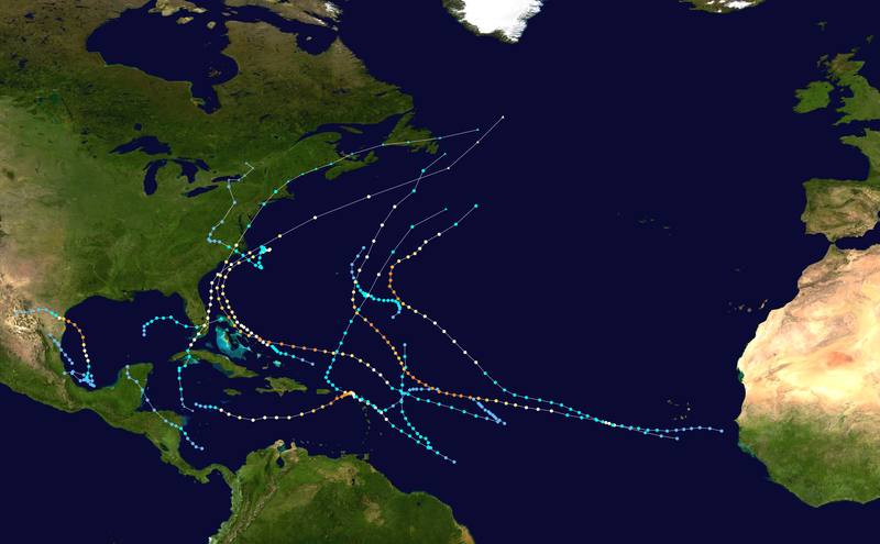 File:1999 Atlantic hurricane season summary map.png