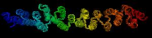 Alpha solenoid - Image: 1b 89 clathrin heavy chain leg