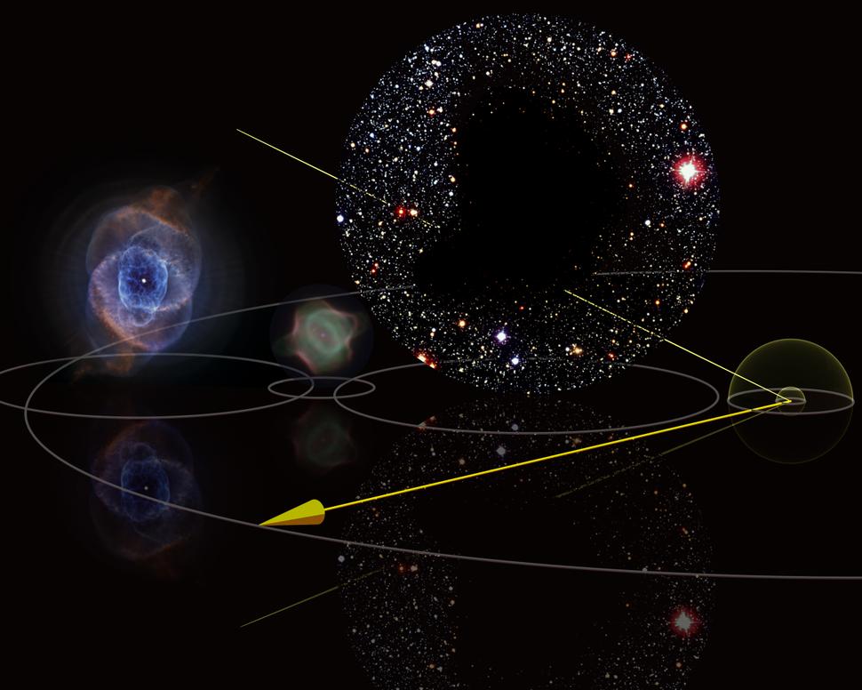 1e15m comparison cat's eye nebula barnard 68 one light year