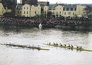 Eight (rowing) - Eights at the end of the 2002 Oxford and Cambridge Boat Race