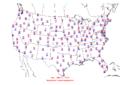 2006-01-09 Max-min Temperature Map NOAA.png