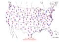 2006-03-17 Max-min Temperature Map NOAA.png