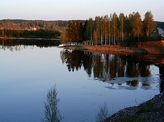Dalälven - Dal River viewed from the crossing of road 70 between Avesta and Hedemora