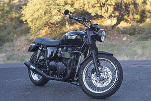 Triumph Bonneville - A customized 2007 Triumph Bonneville Black model