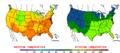 2009-05-25 Color Max-min Temperature Map NOAA.png