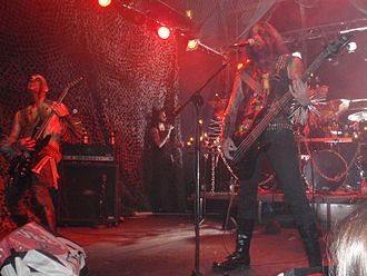 Archgoat - Archgoat performing live at the Black Flames of Blasphemy Festival in 2009
