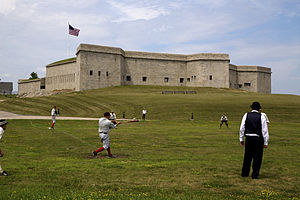 Fort Trumbull - Thames Baseball club playing at Fort Trumbull in New London, CT
