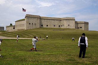 New London, Connecticut - Fort Trumbull, originally built on this site in 1777. The present structure was built between 1839 and 1852.