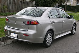 2013 Mitsubishi Lancer (CJ MY14) LX sedan (2015-07-24) 02.jpg