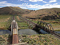 2014-06-21 15 48 50 Train crossing a railway bridge over the Humboldt River in Palisade, Nevada.JPG