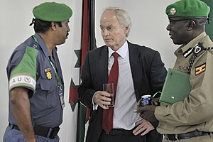 Nicholas Kay - Kay with AMISOM police commissioners.