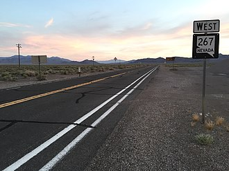 Nevada State Route 267 - View from the east end of SR 267 looking westbound