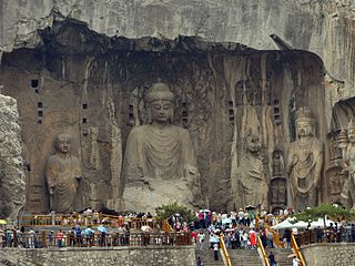 Longmen Grottoes Cave in Peoples Republic of China