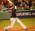 2016-10-10 Mike Napoli at bat Game 3 of ALDS 01.jpg