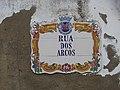 2018-01-14 Tile street name sign, Rua dos Arcos, Albufeira.JPG