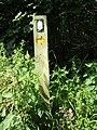 2018-06-13 Waymarker post, Norfolk coast path, Trimingham.JPG