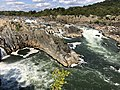 2019-09-07 15 13 52 View northeast towards the Great Falls of the Potomac River from Overlook 1 about 100 feet downstream of the falls within Great Falls Park in Great Falls, Fairfax County, Virginia.jpg