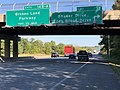 2019-09-25 16 17 31 View east along Maryland State Route 32 (Patuxent Freeway) at Exit 15 (Shaker Drive, Eden Brook Drive) in Columbia, Howard County, Maryland.jpg
