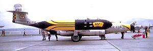414th Fighter Group - 437th Fighter-Interceptor Squadron F-89H, AF Ser. No. 54–0310 in 1956