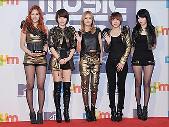 4Minute - Image: 4minute at MTV DAUM Music Fest