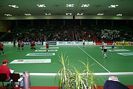 50. Deutsche Hallenhockey-Meisterschaften, Halbfinalspiel Damen, Rhein-Ruhr-Halle Duisburg, 2011.jpg