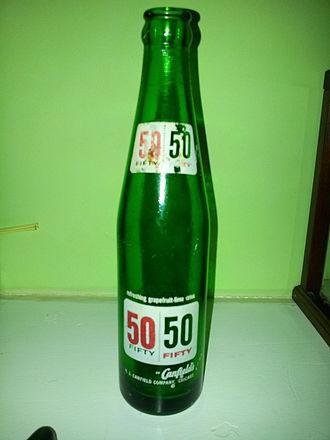 A.J. Canfield Company - 50/50 soda bottle